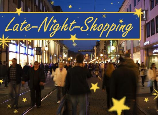 Late Night Shopping am Freitag, 29. November bis 23 Uhr